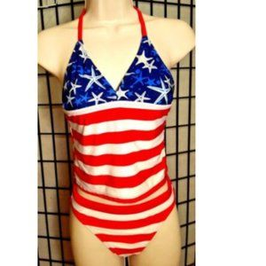 Ocean Pacific Red/White/Blue Girls 2pc Swimsuit